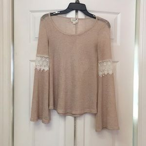 Pacsun Flowy Hippy-Sleeved Knit Blouse